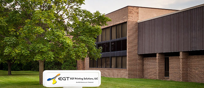 External shot of EGT Printing Solutions buliding